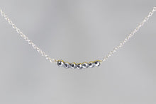 X7SHS Silver Hematite Lucky 7 Rondelle Silver Necklace