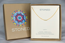 X7SPG Seed Pearl Lucky 7 Rondelle Gold Necklace