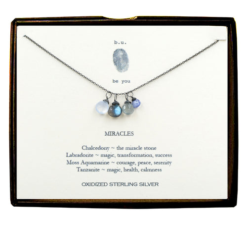 XCFB5 Miracles Oxidized Necklace