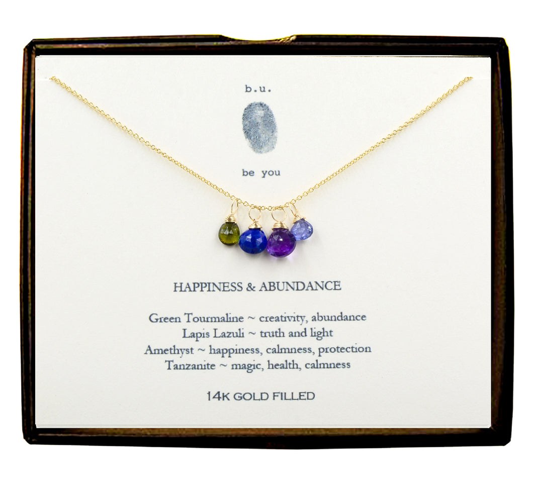 XCFG3 Happiness & Abundance Gold Necklace