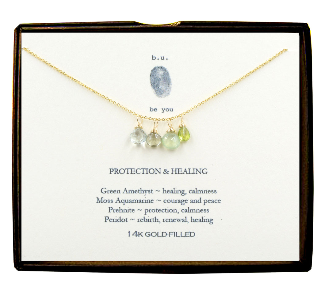 XCFG7 Protection & Healing Gold Necklace