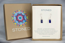 XE1LPS Small Baguette Earring Lapis Lazuli Silver