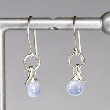 XE2CHS Chalcedony Earring with Silver accent
