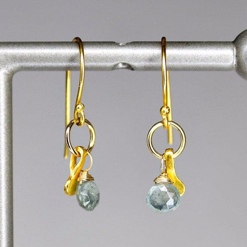 XE2MAQG Moss Aquamarine Earring with Gold accent