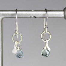 XE2MAQS Moss Aquamarine Earring with Silver accent
