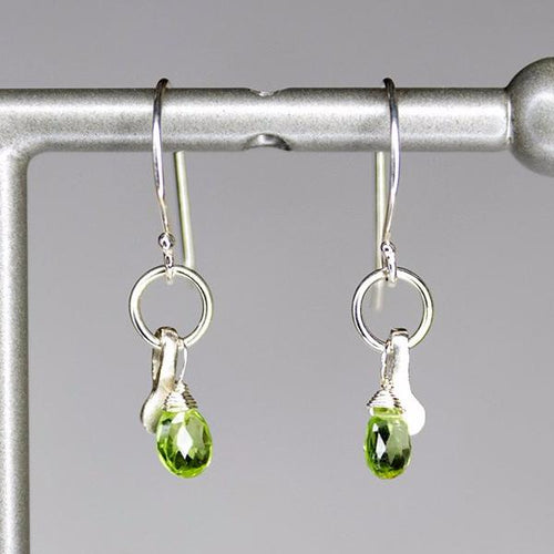 XE2PS Peridot Earring with Silver accent