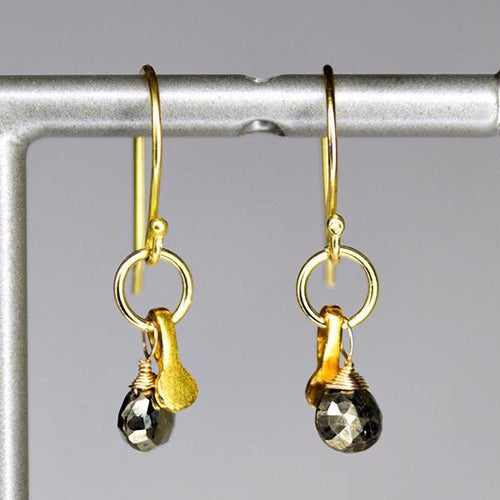XE2PYG Pyrite Earring with Gold accent