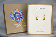 XE2TZG Tanzanite Earring with Gold accent