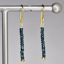 XE3LBG Faceted London Blue Topaz Rondelle Earring Silver