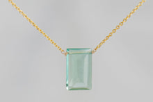 XLFG Fluorite Large Baguette Gold Necklace