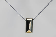 XLPYB Pyrite Large Baguette Oxidized Necklace