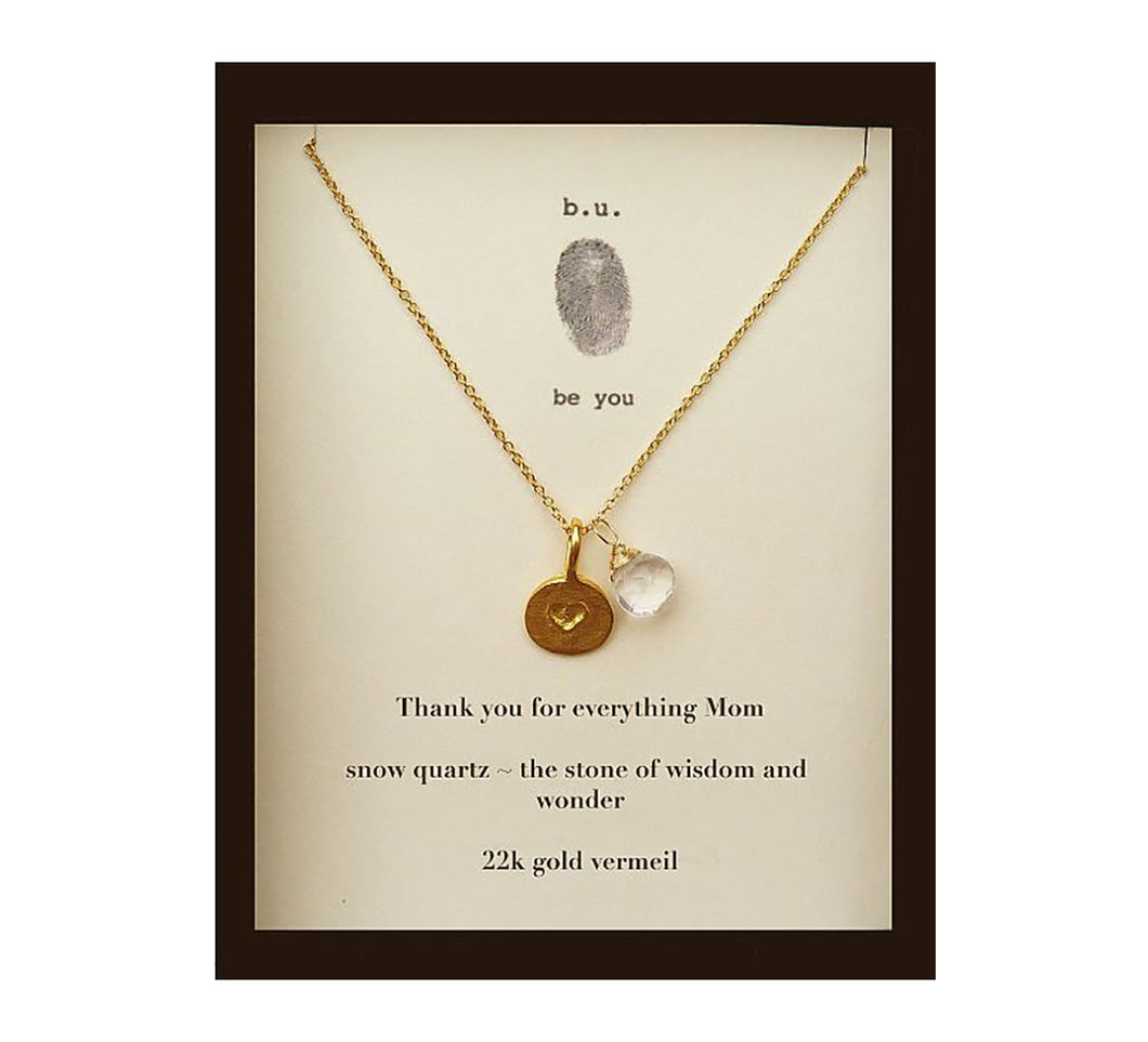 MOM10V Thank You for Everything Mom Gold - b.u. jewelry