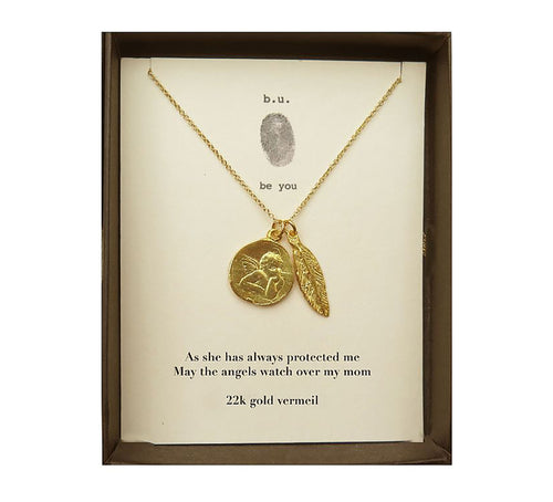 MOM12V As She Has Always Protected Me Gold - b.u. jewelry