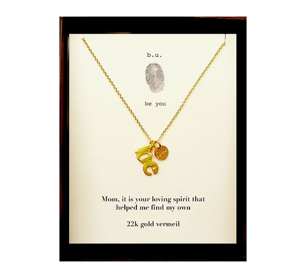 MOM2V Mom, It Is Your Loving Spirit Gold - b.u. jewelry
