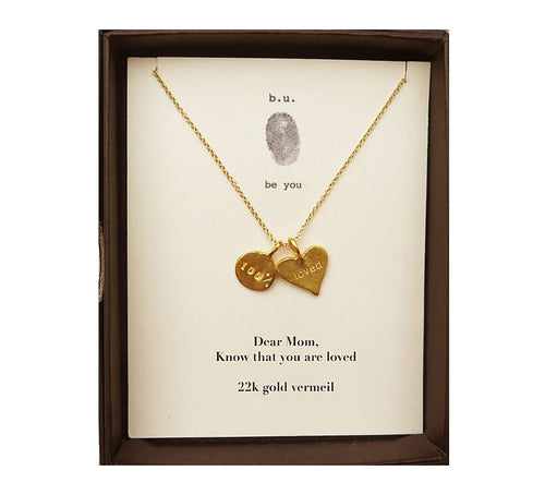 MOM3V Dear Mom, Know That You Are Loved Gold - b.u. jewelry