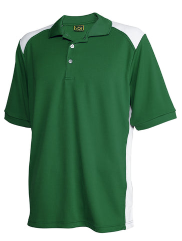 #132 Mens Colorblock Performance Polo Shirt