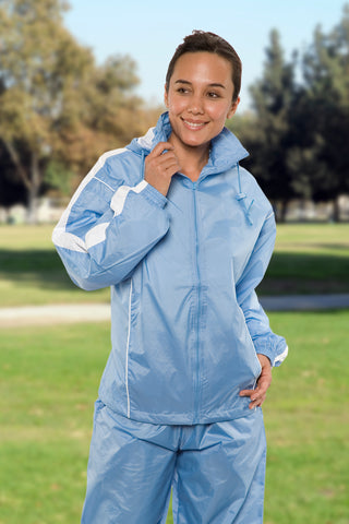 #2600 Ladies Nylon Taffeta Warm Up Set 2XL-3XL