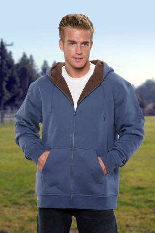 #5000 Mens Hoodie Full Zipper Sweatshirt Sherpa Lining