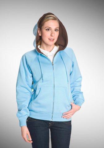 #6025 Ladies Hoodie Full Zipper Sweatshirt Sherpa Lining