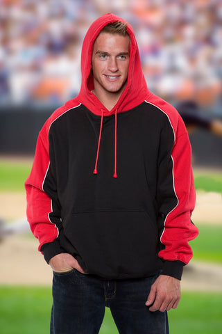 #9901 Two Tone Hooded Pull Over Sweatshirt