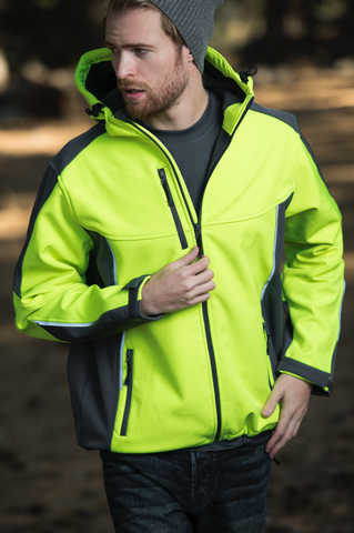 #9703 Active Soft Shell Jacket with Hood