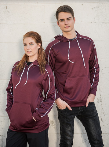 #2805 Performance Polyester Fleece Pullover Hoodie
