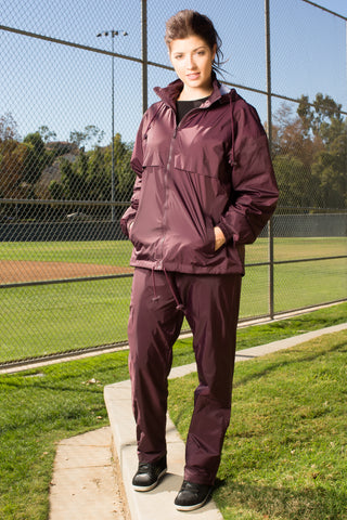 #2300 Full Zipper Nylon Warm Up Set