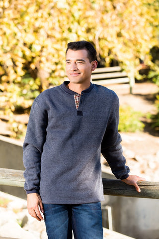 #9908 Henley Nubby Fleece