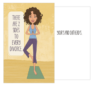 Yoga divorce card