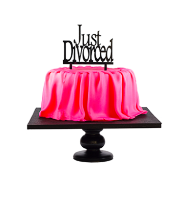 """Just Divorced"" divorce party cake topper"