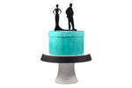 """Unhappy Couple"" Divorce Party Cake Topper"