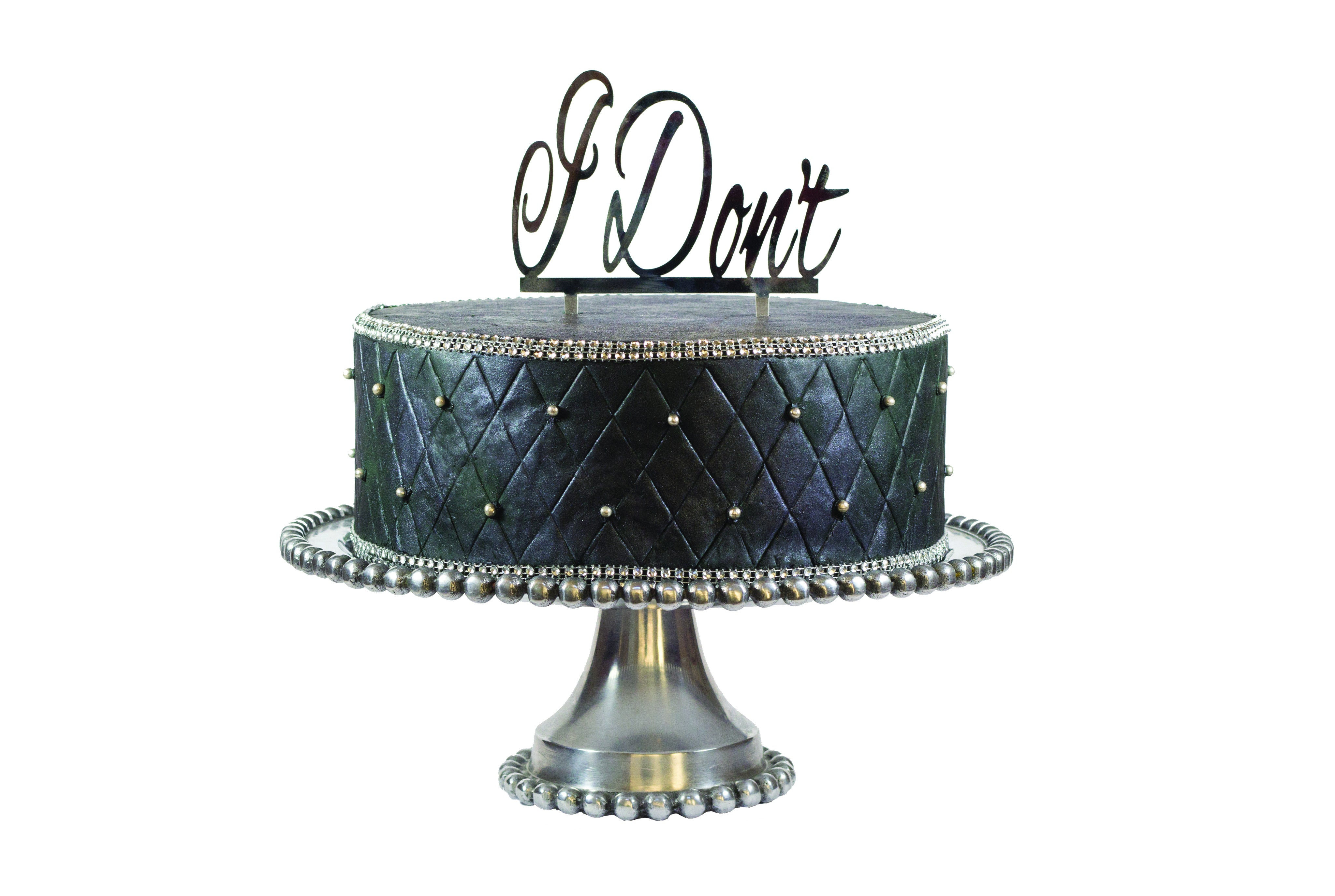 "Divorce Party ""I Don't"" Cake Topper"
