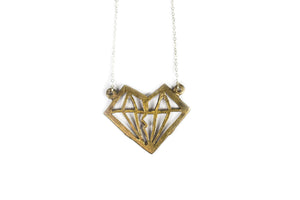 Unknotted Diamond Necklace