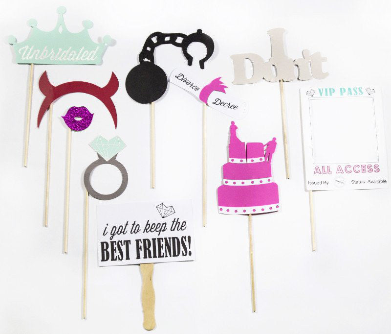 Divorce party photo props