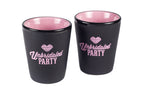 """Unbridaled Party"" shot glass"