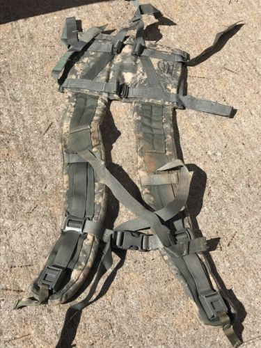 ARMY ISSUE MOLLE II FRAME SHOULDER STRAPS, RUCK ACU DIGITAL NSN 8465-01-524-7240