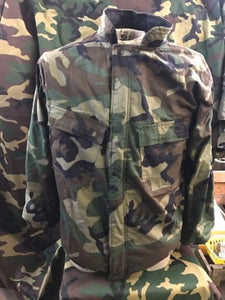 CHEM SUIT US ARMY MILITARY CHEMICAL PROTECTION SUIT X-SMALL WOODLAND CAMO
