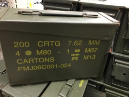30 CAL MM Ammo Can USGI ARMY Issue - GRADE A