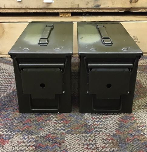 50 CAL ARMY ISSUE M2A1 AMMO CAN TWO PACK USGI (x2) - GRADE A