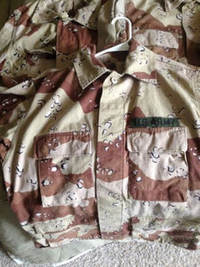 USGI DCU DBDU ARMY ISSUE 6 COLOR DESERT STORM PATTERN MEDIUM TOP - GRADE B
