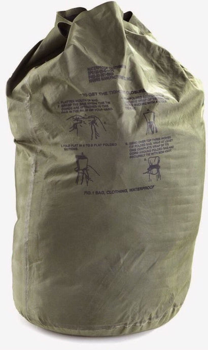 USGI WATERPROOF CLOTHING BAG NSN: 8465-00-261-6909