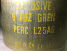 MILITARY GRENADE FUZE CAN *EMPTY* DATED 1966/1976 - GRADE A