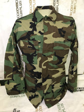 WOODLAND CAMO BDU COAT - HOT WEATHER - RIPSTOP - GRADE A