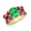 Beguiling Tsavorite Ring with Spinels and Rubies