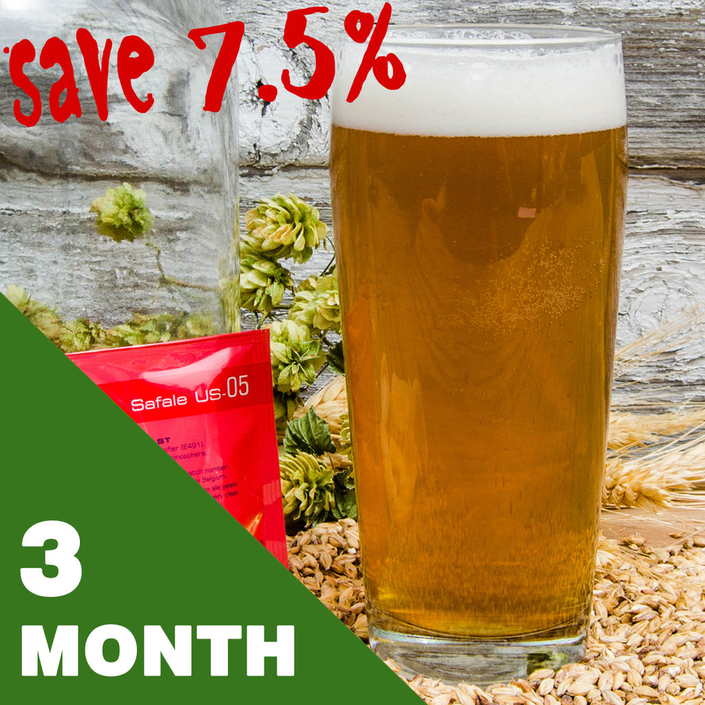 1 Gallon Beer Recipe Kit - 3 Month Subscription - FREE SHIPPING!