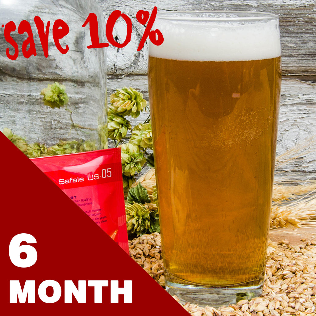 1 Gallon Beer Recipe Kit - 6 Month Subscription - FREE SHIPPING!