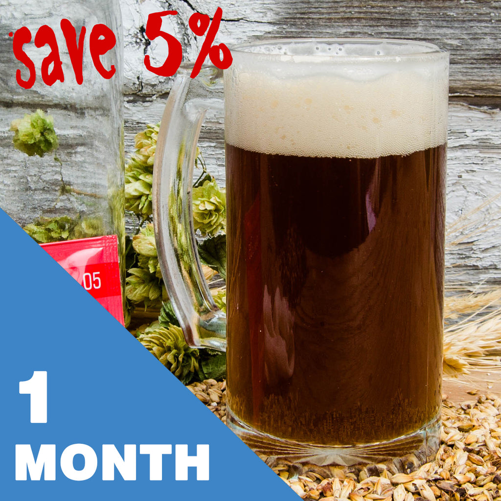2 Gallon Beer Recipe Kit - 1 Month Subscription - FREE SHIPPING!