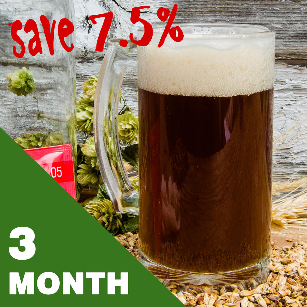 2 Gallon Beer Recipe Kit - 3 Month Subscription - FREE SHIPPING!