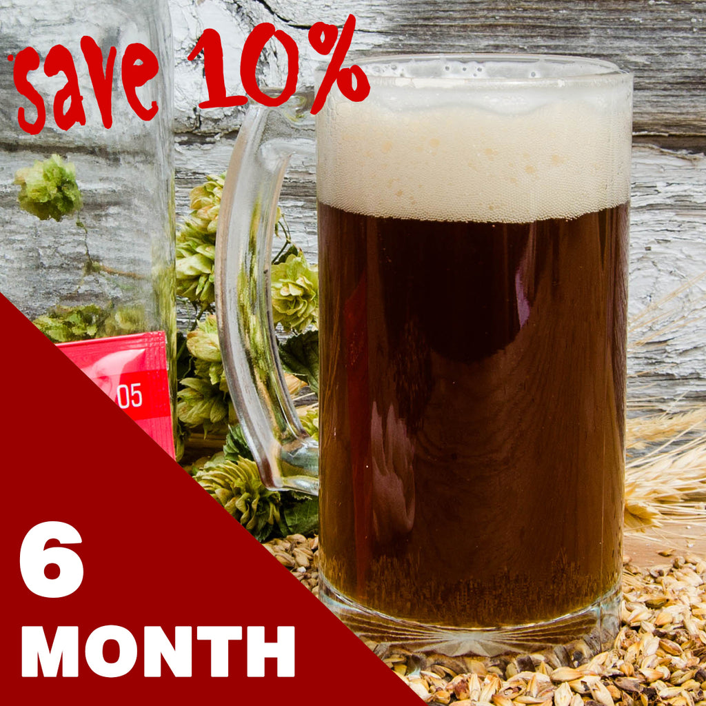 2 Gallon Beer Recipe Kit - 6 Month Subscription - FREE SHIPPING!