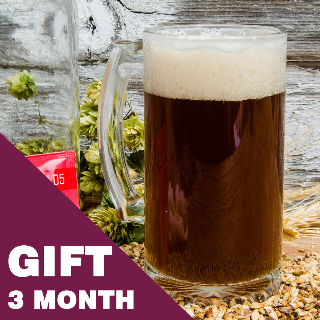 2 Gallon Beer Recipe Kit - 3 Month Gift